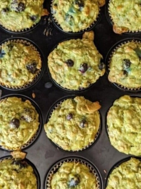 Matcha muffins from recipe